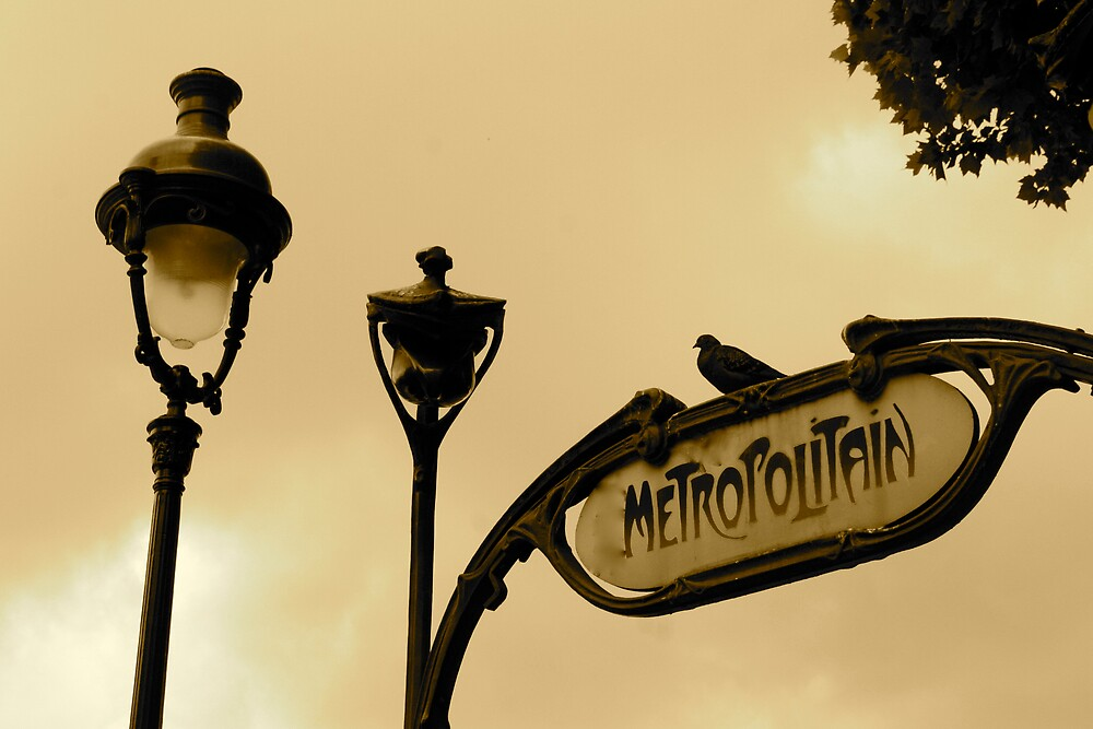 Paris - the metro  by barbara lorenzini