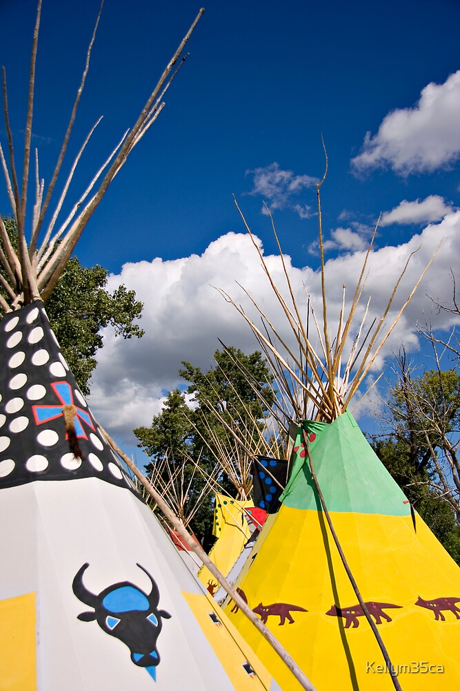 Colorful Teepees by Kellym35ca