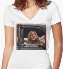 Sex and the city, Carrie Bradshaw Women's Fitted V-Neck T-Shirt