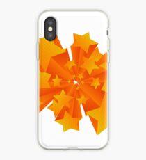 3D orange stars artwork iPhone Case