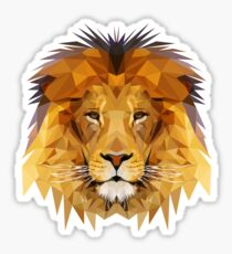 Lion low poly art Sticker