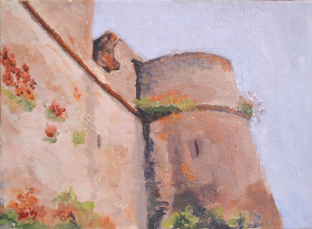 Argenton-Chateau, France Ramparts by Phyllis Dixon