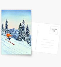 Skiing - The Clear Leader Postcards