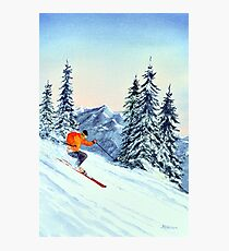Skiing - The Clear Leader Photographic Print