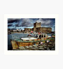 Carrickfergus Castle & Harbour ... Art Print
