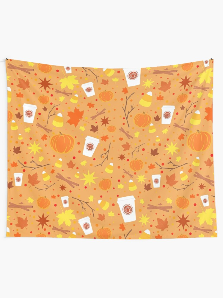 Alternate view of Pumpkin Spice Tapestry