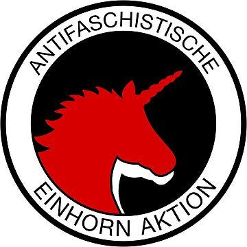 Anti-fascist unicorn action by RAWWR