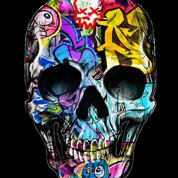 Urban Graffiti Human Skull by timstriker