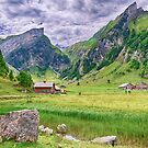 Hiking trail At Seealpsee Appenzell Switzerla by Susan Dost