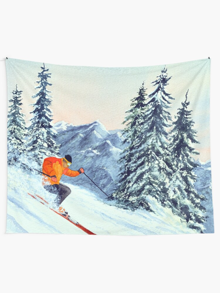 Alternate view of Skiing - The Clear Leader Tapestry