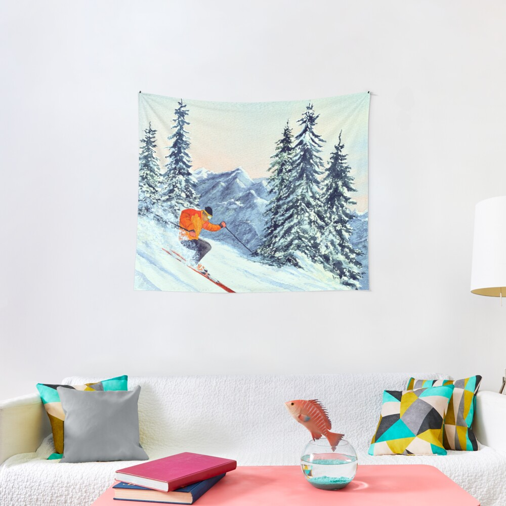 Skiing - The Clear Leader Tapestry