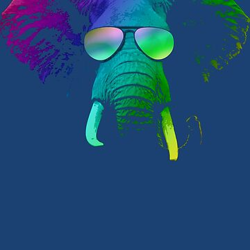 Cool DJ Elephant With Sunglasses by idaspark