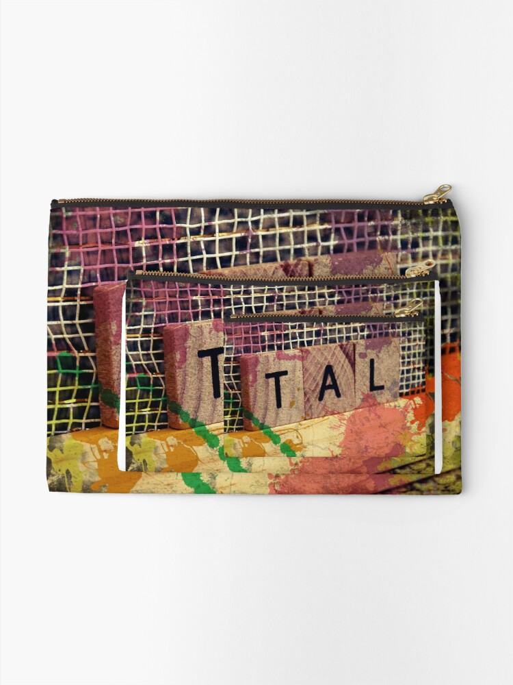Alternate view of Tal, Hebrew name,  Zipper Pouch