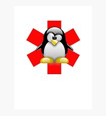 LINUX TUX PENGUIN HOSPITAL Photographic Print
