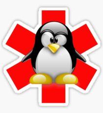 LINUX TUX PENGUIN HOSPITAL Sticker