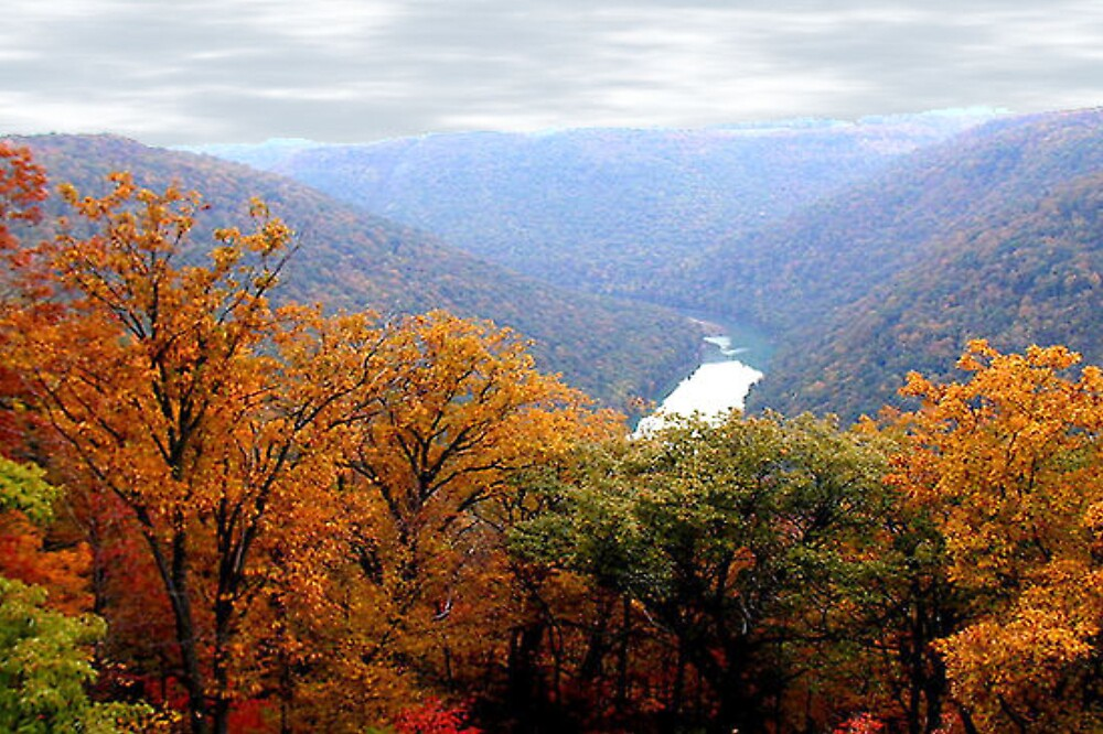 Autumn in West Virginia USA by shadyuk