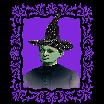 Vintage Antique Witch Altered Art Purple Witch Hat by funnytshirtemp