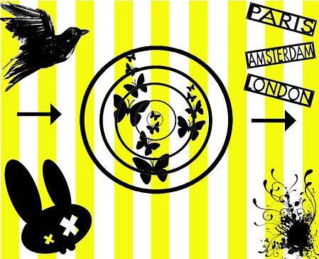 Yellowandblack collage by ParisPrimeau