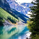 Tranquil Waters III - Lake Louise in Banff, Alberta Canada #photography #art #landscape #lakelouise #banff #alberta #canada by Jacqueline Cooper