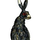 BROWN HARE h3901 by Hares & Critters