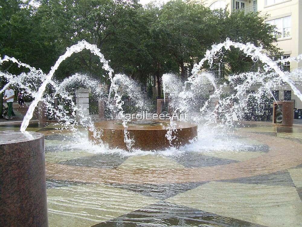Fountain in Old Charleston by CarolLeesArt