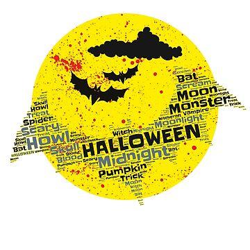 Happy Halloween bat by Dubbra