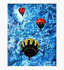 hot air balloon watercolour painting modern art print Photographic Print