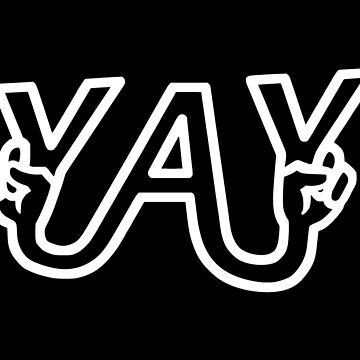 Yay Peace Sign by realmatdesign