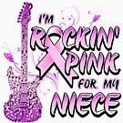 Breast Cancer Awareness I'M Rockin' Pink For My Niece by magiktees