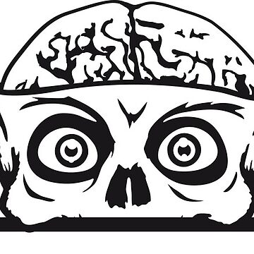 zombie hiding wall wall shield monster brain halloween horror creepy disgusting dangerous evil screaming ugly alien hell demon comic cartoon clipart ugly c by Motiv-Lady