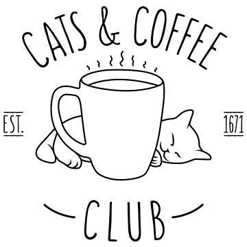 Cats & Coffee Club by SxedioStudio