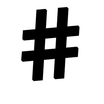 The Hashtag Tee by webart