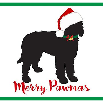 Christmas Labradoodle Silhouette by emrdesigns