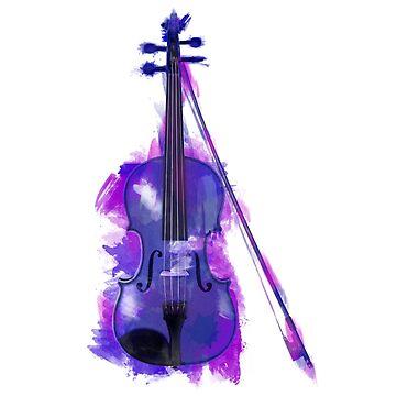 Violin watercolour  by goldenanchor