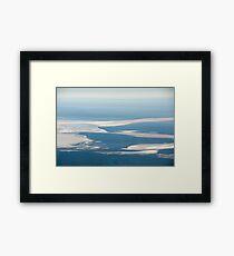 Riverbeds and Saltlakes  Framed Print