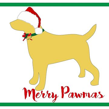 Christmas Yellow Lab Silhouette by emrdesigns