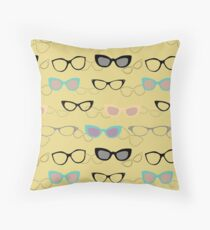 1950's Specs on Chartreuse Throw Pillow