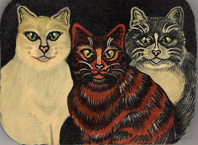 Folk Art Cats by DawnT