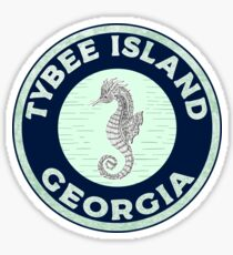 Tybee Island Georgia Savannah Beach Sticker