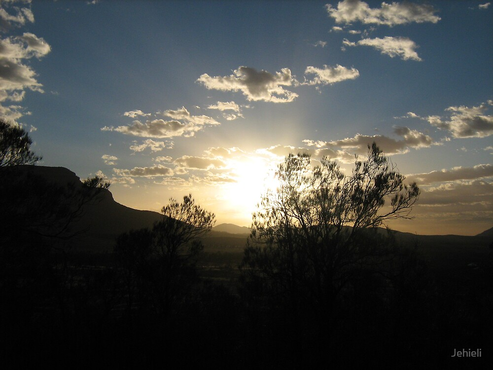 Sunrise at Rawnsleys Bluff - Flinders Ranges  by Jehieli