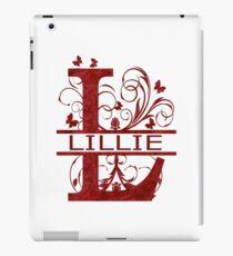 Lillie   Mädchen Name Monogramm   Aquarell und Schmetterlinge iPad-Hülle & Klebefolie