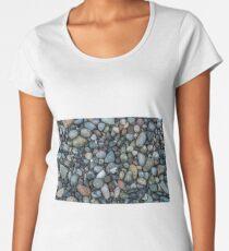 Shoreline Pebbles Closeup Women's Premium T-Shirt