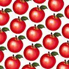 Apple Pattern - White by Kelly  Gilleran