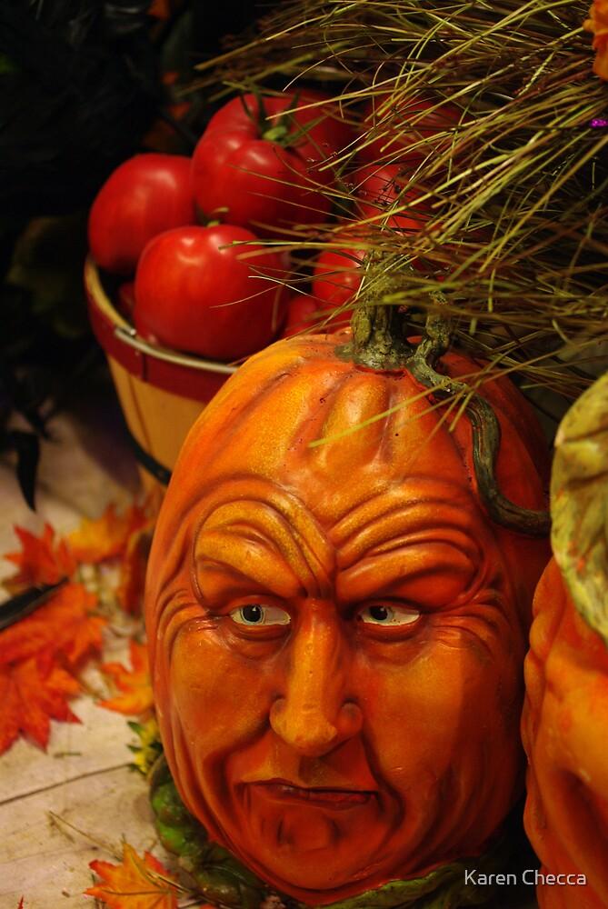 Ole Man Pumpkin by Karen Checca