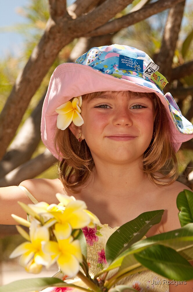 Girl in the Hat in the Frangipani Tree by Janette Rodgers