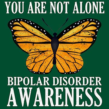 Bipolar Disorder Awareness Butterfly Art Gift by pbng80