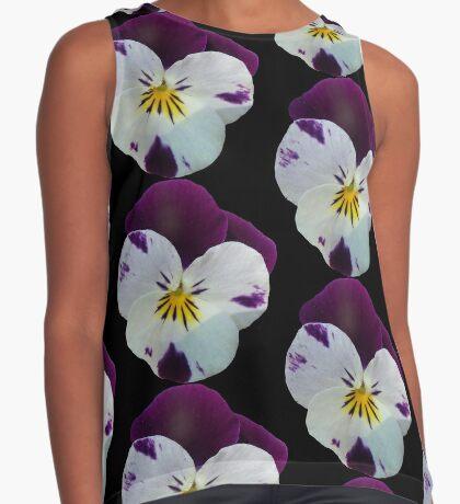 wundervolles violettes Stiefmütterchen, Veilchen, Blume, Blüte Kontrast Top