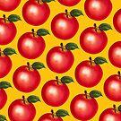 Apple Pattern - Yellow by Kelly  Gilleran