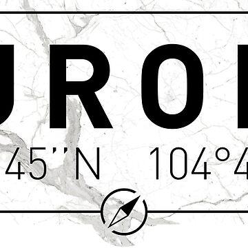 The longitude and latitude of Aurora, CO by efomylod