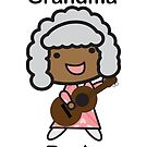 Black Grandma Rocks Guitar Cute Grandparents Day by ValeriesGallery